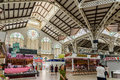Mercado central or mercat central central market in valencia spain july from is a public located across from the llotja de Stock Photography