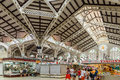 Mercado central or mercat central central market in valencia spain july from is a public located across from the llotja de Stock Images
