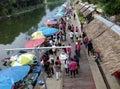 Mercado flotante Imagenes de archivo