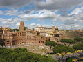 Mercati di traiano a view of an ancient market place at the times of antique rome italy Royalty Free Stock Photo