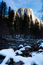 Merced River and Half Dome Royalty Free Stock Photo