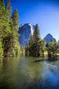 Merced river Royalty Free Stock Photo