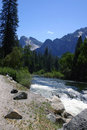 Merced River - Yosemite Royalty Free Stock Photo