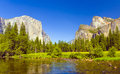 Merced River at Yosemite National Park Royalty Free Stock Images