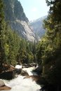 Merced river at yosemite national park in california Royalty Free Stock Image