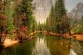 Merced River Yosemite Valley Royalty Free Stock Photo
