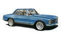 Mercedes Benz 230SL Royalty Free Stock Image