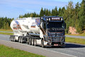 Mercedes benz actros uniq concept bulk transport by kuljetus auv salo finland september the latest super truck of auvinen trucking Stock Photos