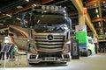 Mercedes benz actros uniq concept truck helsinki finland june finland presents mb ls dna x at logistics transport Royalty Free Stock Photography