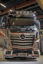 Mercedes benz actros uniq concept truck helsinki finland june finland presents mb ls dna x at logistics transport Royalty Free Stock Image