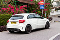 Mercedes benz a amg full body with white colour and sport package Royalty Free Stock Photo