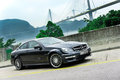 Mercedes benz c amg display in hong kong Stock Photo