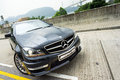 Mercedes benz c amg display in hong kong Stock Images