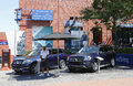 Mercedes benz cars at national tennis center during us open flushing ny september on september in flushing is the Stock Photos