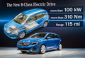 Mercedes benz introduces b class electric drive car new york international auto show Royalty Free Stock Photography