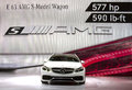 Mercedes benz introduces e amg s station wagon new york international auto show Stock Images