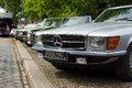 Mercedes benz r and c in the foreground berlin may oldtimer tage berlin brandenburg may berlin germany Royalty Free Stock Photo