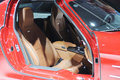 Mercedes benz sls amg   Car interior Royalty Free Stock Photo