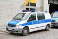 Mercedes benz vito berlin germany september cdi police car at the city street Stock Image