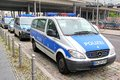 Mercedes benz vito berlin germany september police car at the city street Royalty Free Stock Photos