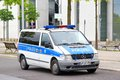 Mercedes benz vito berlin germany september police car at the city street Stock Images
