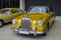 Mercedes oldtimer vintage car aachen germany – may old at the annual meeting of the german benz community of interest on may in Stock Photo