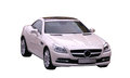 Mercedes slk against white Stock Photo