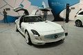 Mercedes sls amg coupe electric drive frankfurt international motor show iaa Royalty Free Stock Photos
