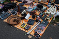 Merchandise exposed at the flea market bonn sepetmber in bonn germany on september with about sellers it is one of biggest in Royalty Free Stock Images