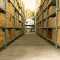 Merchandise Stocking Royalty Free Stock Photo