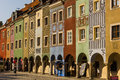 Merchants's Houses. Poznan. Poland Stock Images