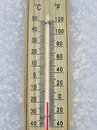 Mercury wooden thermometer