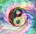The merging of Yin Yang Energy Royalty Free Stock Photo