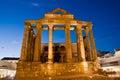 Merida badajoz extremadura spain in roman diana temple Royalty Free Stock Photo