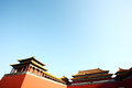 Meridian gate forbidden city beijing Royalty Free Stock Photo