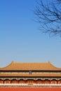 The meridian gate forbidden city beijing Stock Photo
