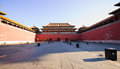 Meridian gate of the forbidden city was built in it remain intact through ming and qing dynasty both in Stock Photography