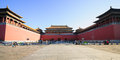 Meridian gate of the forbidden city was built in it remain intact through ming and qing dynasty both in Royalty Free Stock Images