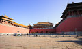 Meridian gate of the forbidden city was built in it remain intact through ming and qing dynasty both in Stock Image