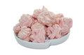 Meringues handmade pink isolated on white background Stock Images