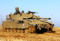 Merkava tank nirim isr nov israeli soldiers drive on nov the was first used in combat during the lebanon war where israel Stock Image