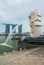 Merlion mascot and national personification of singapore a Stock Images