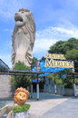 Merlion in Sentosa island Singapore Royalty Free Stock Photo