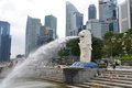 Merlion statue landmark of singapore famous Royalty Free Stock Photos
