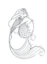 Mermaid fairy tale character vector illustration on white background Stock Photos