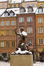 Mermaid in old downtown of Warsaw, Poland Stock Photo