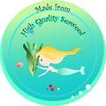 Mermaid and seaweed