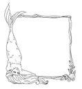 Mermaid vector frame