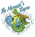 The mermaids curse vector illustration ideal for printing on apparel clothes Royalty Free Stock Images