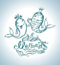 Mermaids funny funny fish sea princess Stock Photography